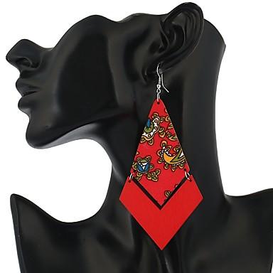 Női Függők - Vintage / Divat Fukszia / Piros / Kék Geometric Shape Fülbevaló Kompatibilitás Hétköznapi / Alkalmi