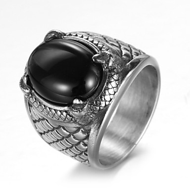 Men's Ring - Titanium Steel Luxury, Vintage, Punk 7 / 8 / 9 / 10 / 11 Silver For Birthday Gift Daily