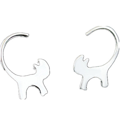 Women's Stud Earrings - Cat Personalized, Fashion Silver For Daily / Casual