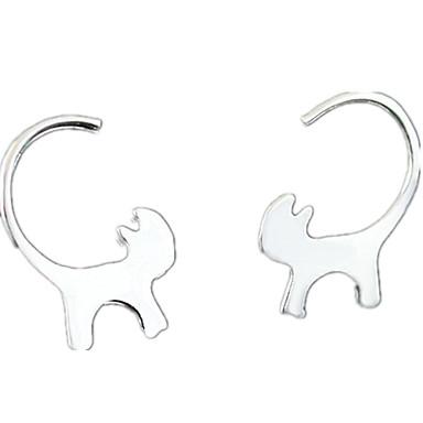 Női Cat Beszúrós fülbevalók - Személyre szabott / Divat Ezüst Fülbevaló Kompatibilitás Napi / Hétköznapi