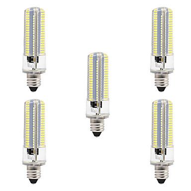 BRELONG 5 pcs 8W 152LED SMD3014  Dimmable Corn Light  AC220/AC110/  Warm White/ White/E12/E11/E14/E17