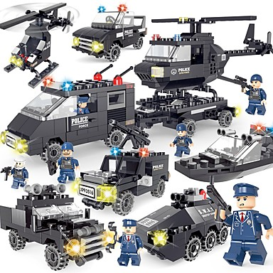 SHIBIAO Building Blocks 359pcs Classic / New Design Vehicles / Police Simple / DIY Contemporary / Classic & Timeless / Chic & Modern