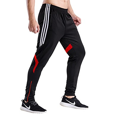 Men's Running Pants Quick Dry Breathable Soft Pants / Trousers Casual Exercise & Fitness Running Polyester Gray Red Green Blue Black/Red