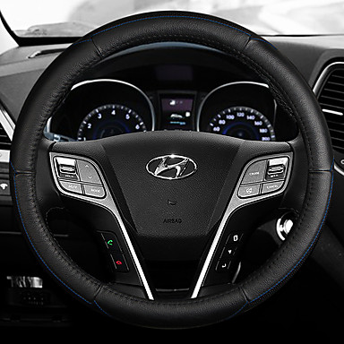 cheap Steering Wheel Covers-Steering Wheel Covers Leather 38cm Blue / White / Red For Hyundai IX35 All years