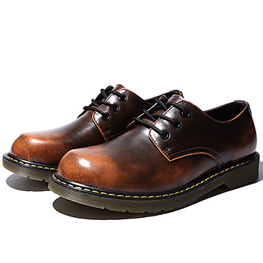 Men's Cowhide Fall / Winter Comfort Oxfords Gray / Brown / Red