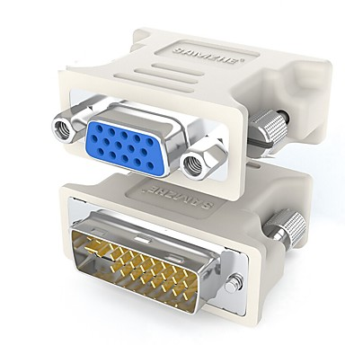 DVI Adapter Cable, DVI to VGA Adapter Cable Male - Female Nickel-plated steel