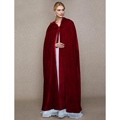 Faux Fur Wedding / Party / Evening Women's Wrap With Cap / Lace-up Capes