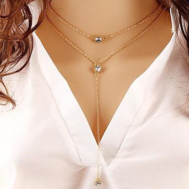 Női Bohém Kristály Kristály Nyaklánc medálok Y-nyakláncok  -  Vintage Bohém Divat Kör Arany Nyakláncok Kompatibilitás Ajándék Hétköznapi