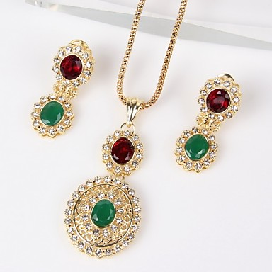 Women's Cubic Zirconia Jewelry Set - Cubic Zirconia Classic, Fashion Include Gold For Wedding / Party