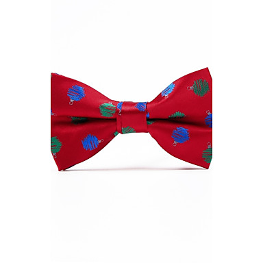 Men's Pattern Polyester Bow Tie - Jacquard / All Seasons