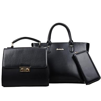 Women's Bags PU(Polyurethane) Bag Set Zipper Red / Blushing Pink / Gray