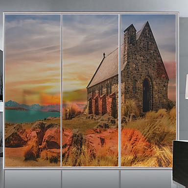 Window Film & Stickers Decoration Scenery Print PVC / Vinyl Window Sticker / Living Room