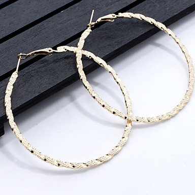 Women's Geometric Hoop Earrings - Geometric, Classic Gold For Daily / Casual
