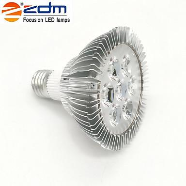 7W 650-750lm E26 / E27 LED Spot Işıkları PAR30 7 LED Boncuklar Yüksek Güçlü LED Sıcak Beyaz 85-265V