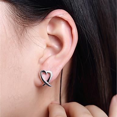 Női Beszúrós fülbevalók - Ezüstözött Szív Ezüst Kompatibilitás Napi / Hétköznapi