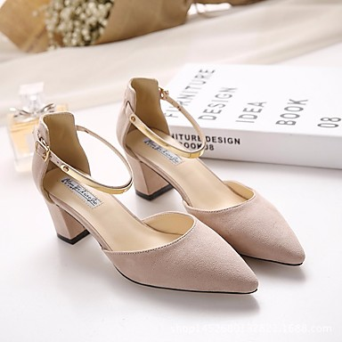 31d201c7a46 Women s Shoes Synthetic Microfiber PU Spring   Fall Comfort Heels Chunky  Heel Pointed Toe Black