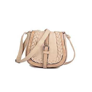 Women's Bags PU Crossbody Bag Zipper Beige / Brown / Sky Blue
