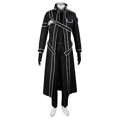 Inspirat de Sword Art Online SAO Kirito Swordman Anime Costume Cosplay Costume Cosplay Mată Geacă / Cămașă / Pantaloni Pentru Bărbați / Pentru femei Costume de Halloween