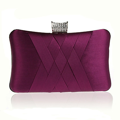 cheap Going to the beach-Women's Bags Straw Evening Bag Crystals Fuchsia / Wine / Royal Blue