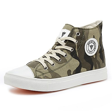 Women's Shoes Canvas Fall / Winter Light Soles / Vulcanized Shoes Sneakers Round Toe Gray / Army Green