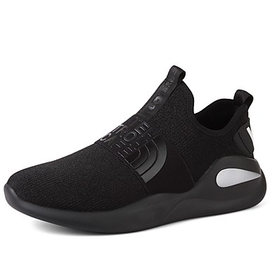 Shoes Leatherette Fall Comfort Walking Shoes Split Joint for Black