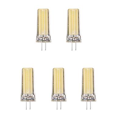 5pcs 4W 1lm G4 Żarówki LED bi-pin 1 Koraliki LED COB Ciepła biel Zimna biel 220-240V