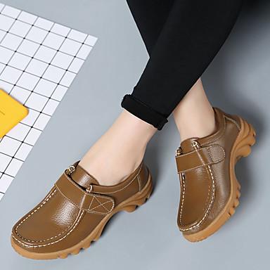Cinta Tacón Marrón Mujer Primavera taco Zapatos Cuero redondo On de Confort Dedo Bajo Slip 06304422 Zapatos y Rojo Naranja bajo Otoño Adhesiva 7Hwr7xEaq