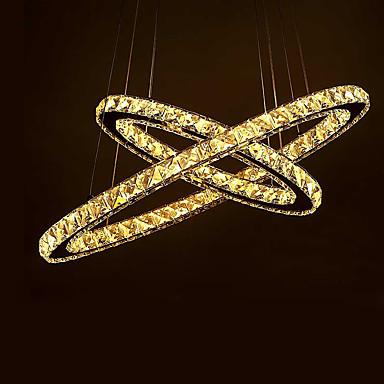 2-Light Kristály Mennyezeti lámpa Háttérfény - Kristály, Tükröződésmentes, 110-120 V / 220-240 V, Meleg fehér, LED fényforrás / 5-10 ㎡ / Beépített LED