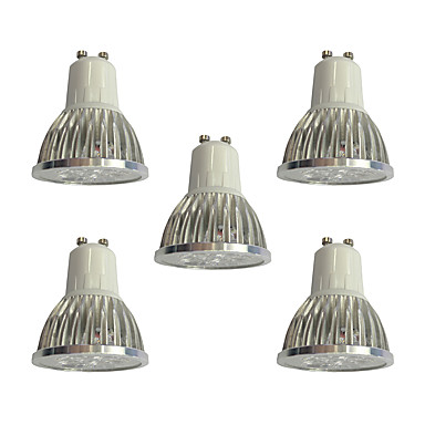 5pcs 4W 360lm GU10 LED szpotlámpák 4 LED gyöngyök Nagyteljesítményű LED Tompítható / LED fény Fehér 110-120V