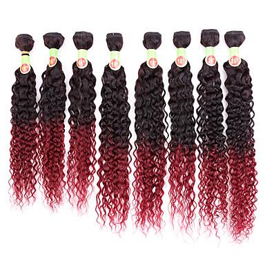 baratos Extensões de Cabelo Natural-8 pacotes Cabelo Brasileiro Encaracolado Clássico 8A Cabelo Humano Âmbar Âmbar Tramas de cabelo humano Extensões de cabelo humano