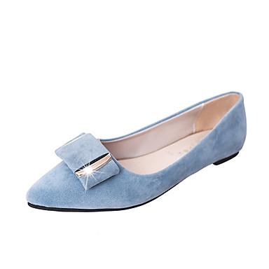 Naisten Kengät Turkis PU Talvi Syksy Comfort Tasapohjakengät Kävely Tasapohja Pyöreä kärkinen varten Kausaliteetti Musta Harmaa Sininen
