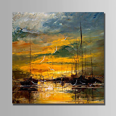 Oil Painting Hand Painted - Landscape Abstract Canvas