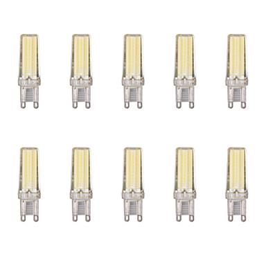 billige Elpærer-10pcs 4 W LED-lamper med G-sokkel 400 lm G9 1 LED perler COB Varm hvit Kjølig hvit 220-240 V