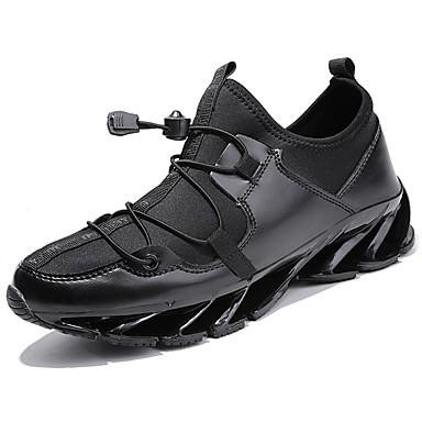 Men's Rubber Fall / Winter Comfort Athletic Shoes Black / Black / White