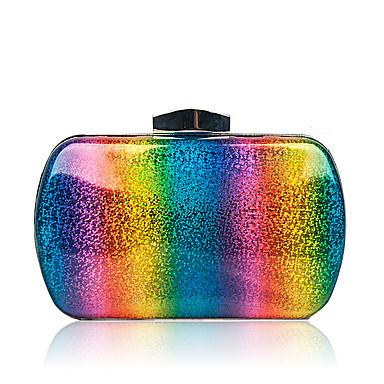 Women's Bags PU(Polyurethane) Evening Bag Buttons Rainbow