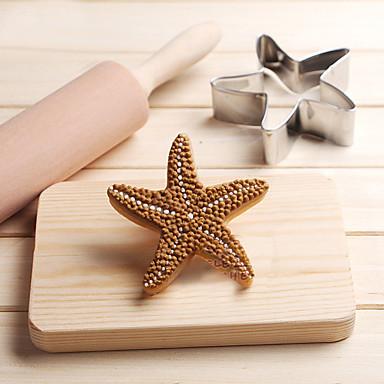 csillaghal sütemény vágó rozsdamentes acél sütemény sütemény penész sütés eszközök
