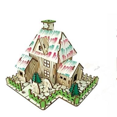 voordelige 3D-puzzels-3D-puzzels / Legpuzzel / Modelbouwsets Huizen / Mode / Huis Kinderen / Nieuw Design / Hot Sale Puinen 1 pcs Klassiek / Modern / Hedendaags / Modieus Kinderen Geschenk
