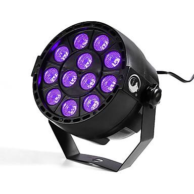 u'king zq-b187b 12w 12 leds lila szín dmx hang aktivált par színpadi világítás disco party klub ktv esküvő