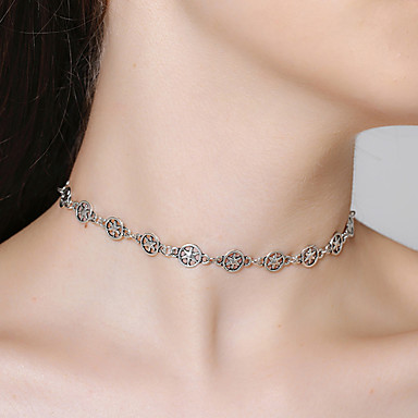 Women's Choker Necklace - Star Personalized, Vintage, Simple Style Silver Necklace Jewelry For Gift, Daily, Date