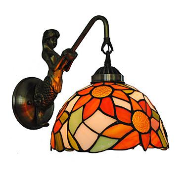 átmérő 20cm retro ország sellő tiffany fali lámpák üveg árnyékoló nappali hálószoba lámpatest