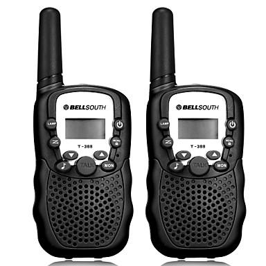 bellsouth t388 håndholdt 2 stk t-388 3-5km 22 frs og gmrs uhf radio for barn walkie-talkie tovejs radio