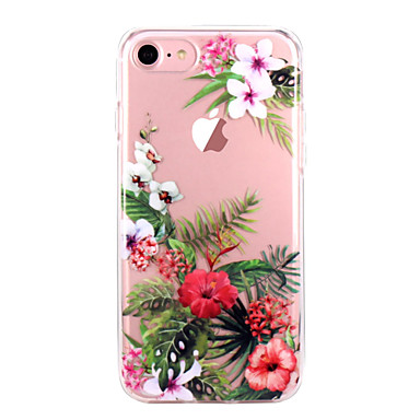 Case For Apple iPhone X / iPhone 8 / iPhone 8 Plus Ultra-thin / Transparent / Pattern Back Cover Flower Soft TPU for iPhone X / iPhone 8 Plus / iPhone 8