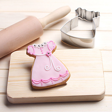 Baby Skirt with Lace Cookies Cutter Stainless Steel Biscuit Cake Mold Metal Kitchen Fondant Baking Tools