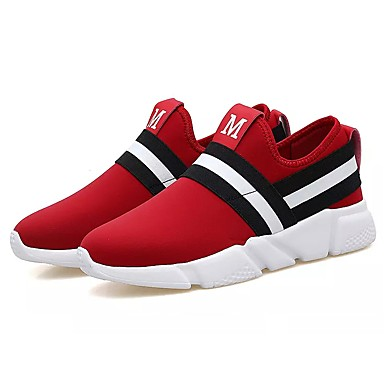Herren Schuhe Stoff Frühling Herbst Komfort Sportschuhe Walking Kombination Für Normal Schwarz Rot