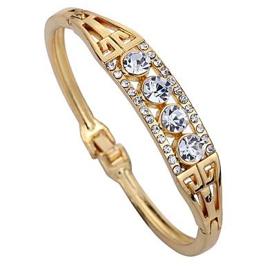 Women's Synthetic Diamond Cuff Bracelet - Rhinestone Geometric Bracelet Rose Gold For Daily / Stage