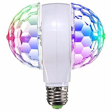 1db led rgb fokozat izzólámpa e27 forgatható ktv bar diszkó parti dekoráció lámpa dupla fejléc labda színpad hatása világítás ac95-240v