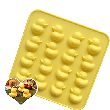 Bakeware tools Silicone Baking Tool / 3D / Creative Kitchen Gadget For Cookie / For Chocolate / For Ice 3D Cartoon Cookie Tools 1pc