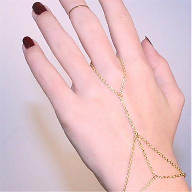 abordables Bracelet-Chaînes Bracelets Bracelets Bagues Femme Esclaves d'or Bikini Bracelet Bijoux Dorée Argent Forme Géométrique pour Soirée Quotidien