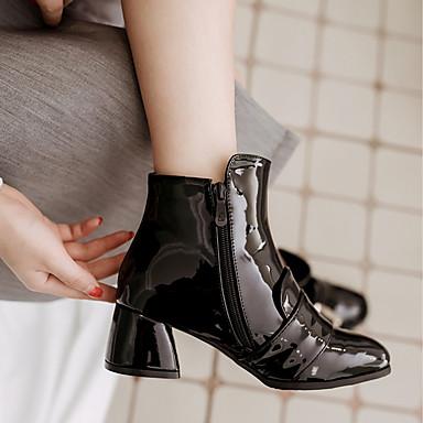 Bout Botillons Femme Bottine Bottier Hiver 06288437 Talon Automne Confort Bottes Polyuréthane Similicuir Demi Chaussures carré Nouveauté TqwrT0PO