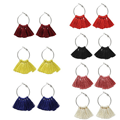 Női Francia kapcsos fülbevalók - Világos piros / Rózsaszín / Bor Kompatibilitás Parti Alkalmi
